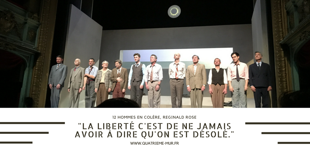12 hommes en colère théâtre hébertot blog cultureblog theatre quatrieme mur