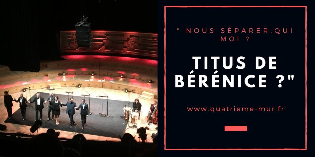 Bérénice comédie française denis podalydes avis critique quatrieme mur blog theatre