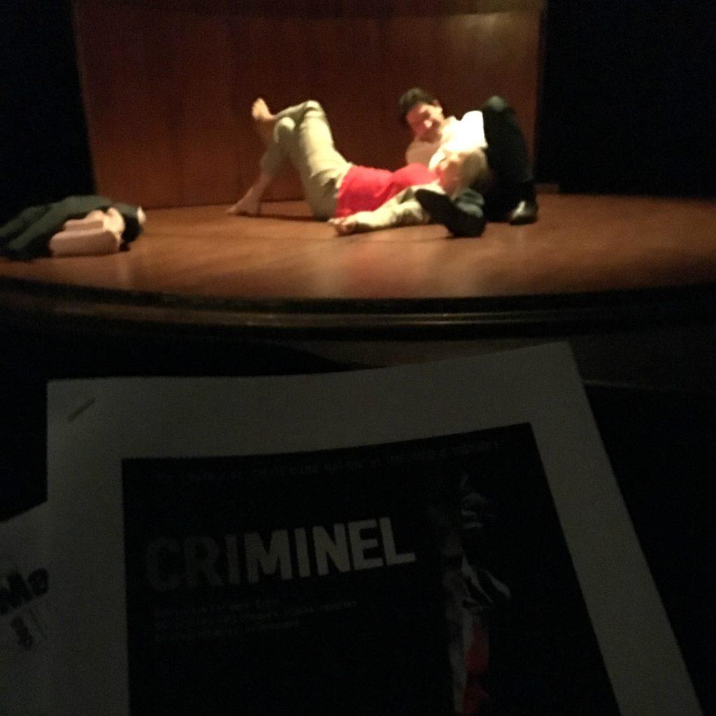 criminel yann reuzeau critique avis paris théâtre manufacture abbesses quatrième mur blog théâtre avis