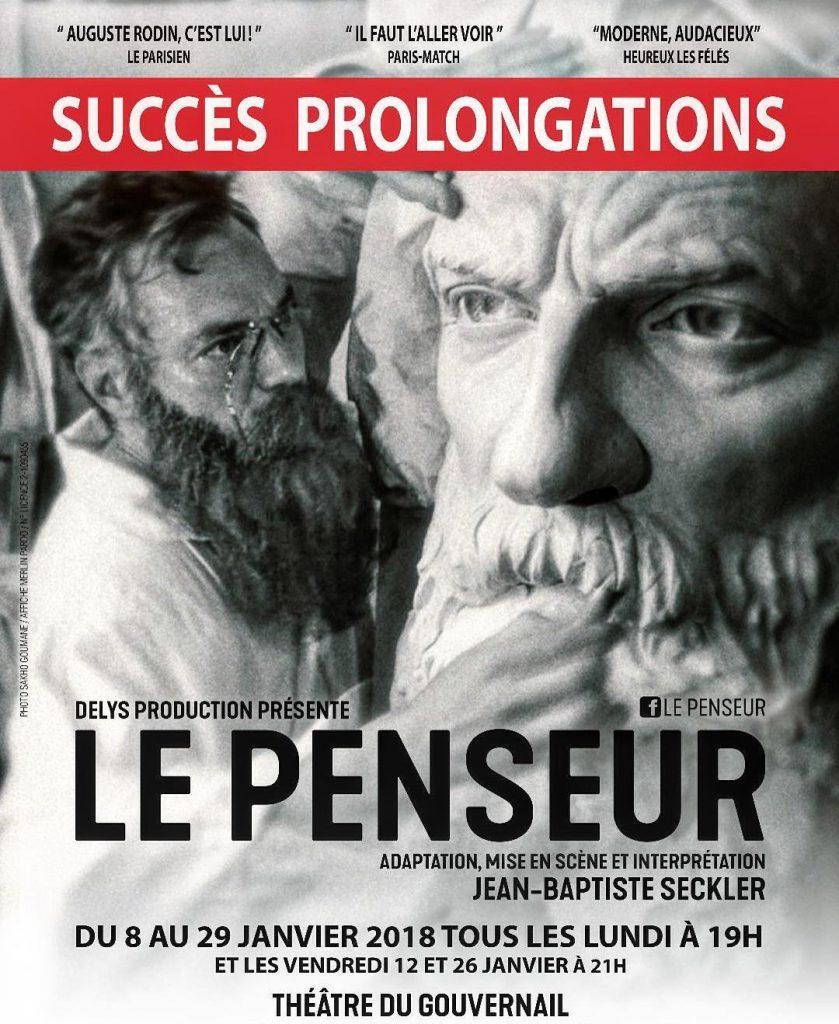 le penseur rodin théâtre gouvernail seckler paris critique avis blog théâtre quatrième mur