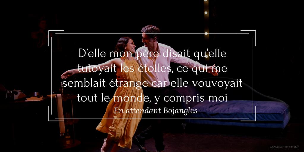 en attendant bojangles quatrieme mur blog théâtre pepiniere theatre critique avis paris