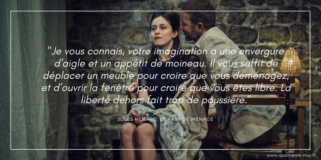 le plaisir de rompre à la folie théâtre paris critique avis quatrième mur blog théâtre culture jules renard