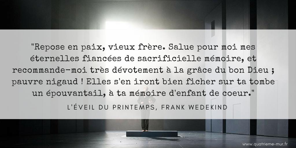 éveil du printemps frank wedekind clement hervieu leger comédie française critique avis blog théâtre quatrième mur