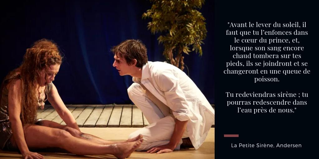 La petite sirène comédie française adeline d'hermy julien frison studio théâtre critique avis conte Andersen