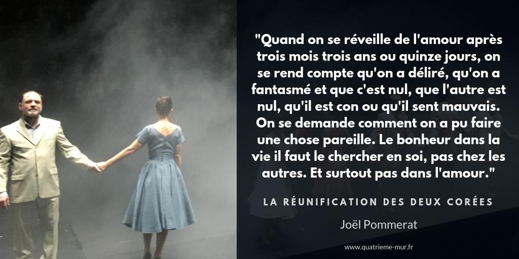 La réunification des deux corées joel pommerat nanterre amandiers quatrième mur blog théâtre critique avis paris odéon