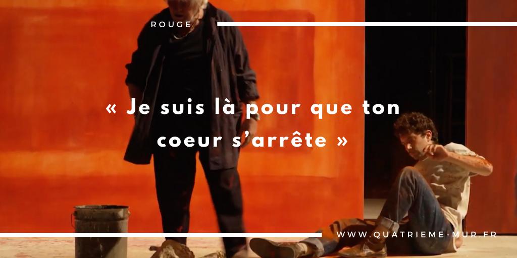 rouge théâtre montparnasse critique avis Niels ARESTRUP Alexis MONCORGÉ paris sortie blog théâtre quatrième mur